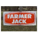 #954 Farmer Jack plastic store sign 114 x 49