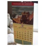 #902 1948 Standard Oil Calendar NOS