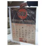#903 1949 Gulf Calendar NOS