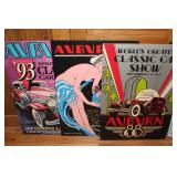 #913 (4) Auburn Classic Car Show posters- 88,89, 93, 94