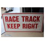 #955 Large Race Track sign