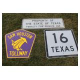 #967 Texas Highway signes - sold choice