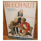 #904 Org. Beech - Nut Tobacco Cardboard advertising