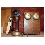 #905 Rare Kellogg Co. candlestick phone w/ ringer