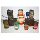 #928 & #929 Oil Can Lot #3- incl. Monarch, Quaker State, etc.