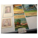 #910 Lovely Ladies Lot incl. Red Garter Night Club Detroit postcards, Lady Pin Ups, Bamboo Calendars