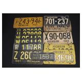 #916 License Plate lot of 19 incl. trailer plates- mostly 30