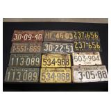 #918 15+ large License Plates