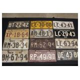#920 17 Large Michigan License Plates- mostly 1940