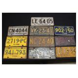 #921 Lot of 1960s License Plates