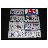 #925 License Plates- Texas, Louisiana, etc.