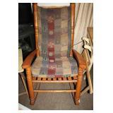 Slat bottom rocking chair