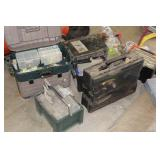 Tackle boxes and related