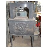 (2) piece Enamel Stove with embossed Squirrel