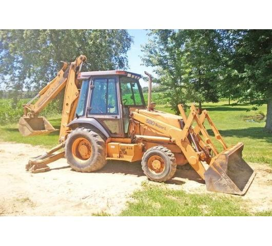 Estate Auction Tractor Backhoe Household