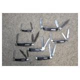Buck #501, (2) Buck 312 X knives, Buck #305 knife, etc.