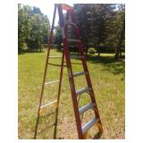 7 Step Werner Fiberglass ladder