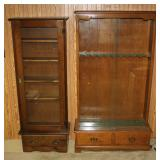 Approx. 5 ft. Gun cabinets w/ glass doors