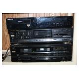 Samsung player, RCA tape deck, etc