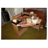 Misc. household incl. desk, clock, etc.