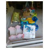 Baby toys incl. rocker, kitchen, etc.
