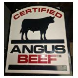 Angus Beef Certified Beef dbl sided sign