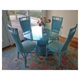 Maine Cottage Aqua Wicker Set