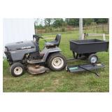 Craftsman lawn tractor w/ utility wagon