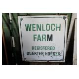 Wenloch Farm sign