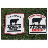 Angus beef signs