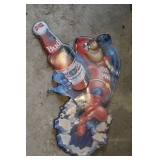 BUDWEISER BUDMAN METAL BAR BEER SIGN