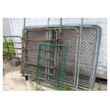 Dog run fence and gate