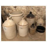 Lots of stoneware - Crocks & jugs
