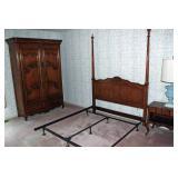 Bedroom set w/ Armoire, Headboard, & night stand
