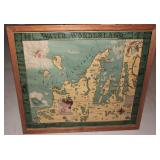 Grand Traverse Water Wonderland vintage map