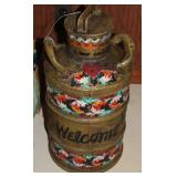 painted oil can