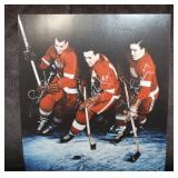 The Production Line signed by Ted Lindsay, Gordie Howe, & Sid Abel