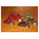 Cast iron cars incl. Hubbly rubber tires