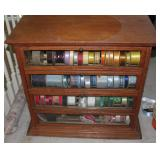 Vintage Ribbon Cabinet with 4 glass doors