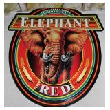 Imported Elephant Red tin sign