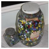 large Pickle Jar Full of Marbles