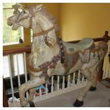 Large Plastic Carousel display horse