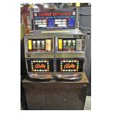 Double Deuces Wild 25 Cent Light up Bally Casio Slot Machine on locking stand. Model # 791Z B