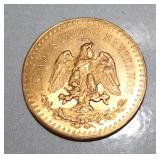 Back side of 50 Pesos Gold Coin