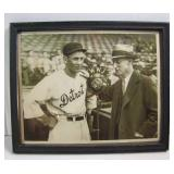 """#583 1934 8""""x10"""" B&W photo of Detroit Tigers player Charlie Gehringer"""