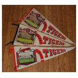 #564 Lot 0f (3) Tigers Photo Pennants 1967, 68, & 71 - some damage