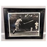 #566 Mickey Mantle signed home run off McLain photo