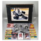 #596 Hockey Lot w/ lots of signed material