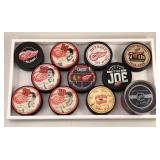 #599 Lot of 11 Detroit Red Wing Commemorative Pucks