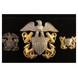 #450 Gold & GF Military Pin lot of 6 incl. 14K USNA 53 Pin